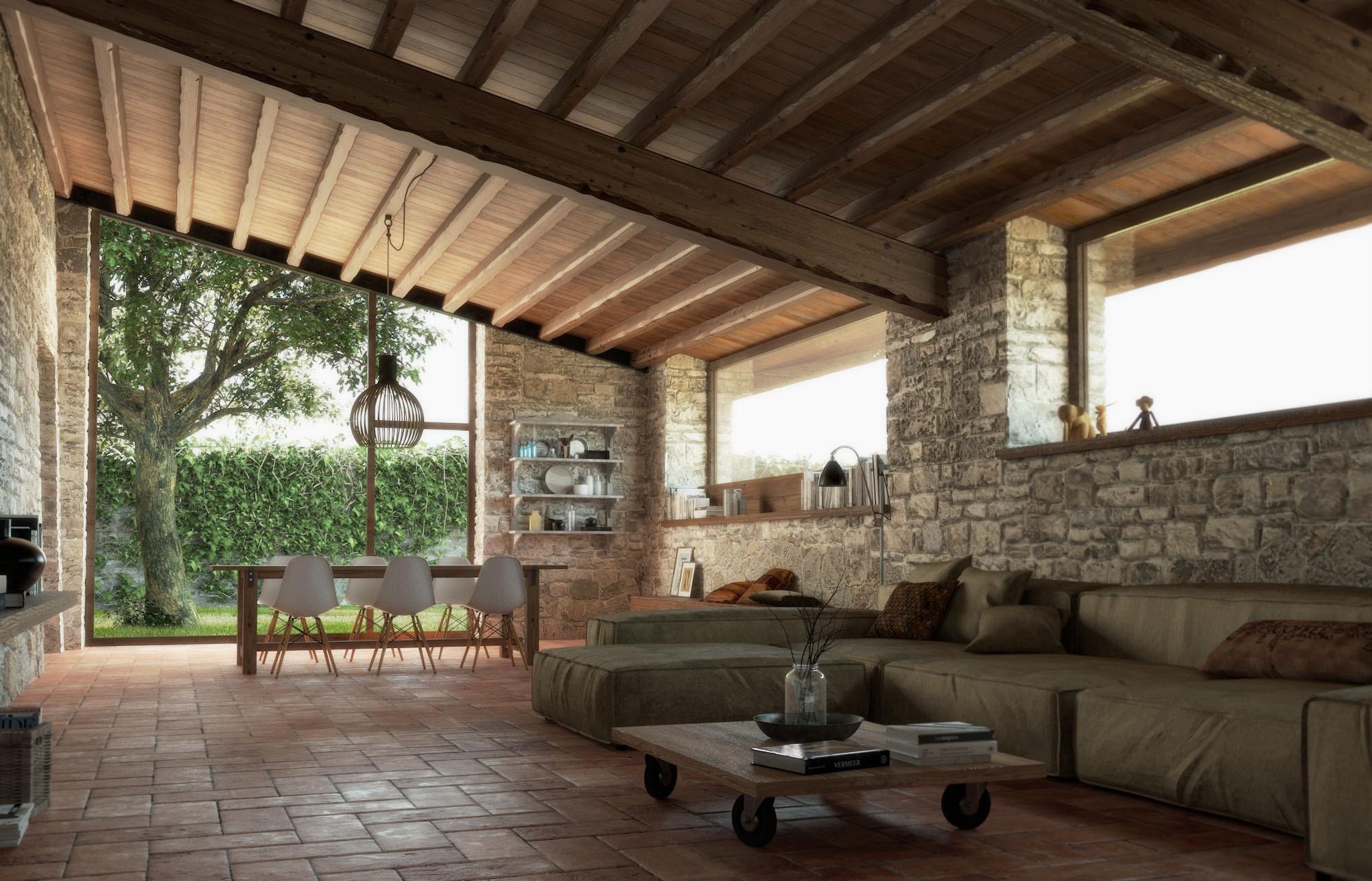 Rustico indipendente gesticasa for Archi interni casa ristrutturato