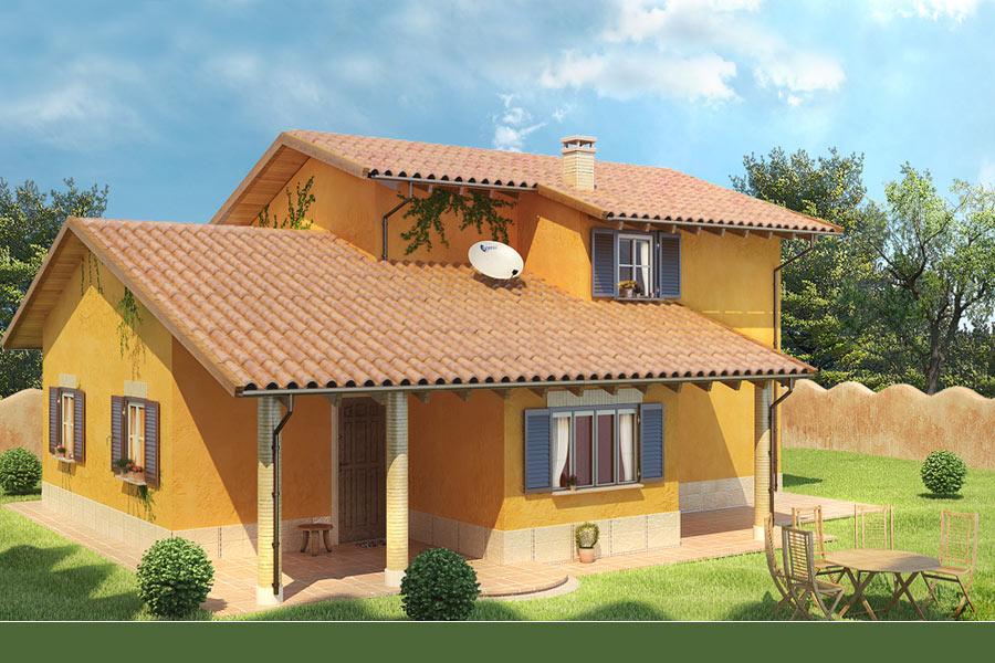 Villette a due piani progetti pianta info30 img 004 for Casa prefabbricata 40 mq